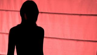 Silhouette of victim