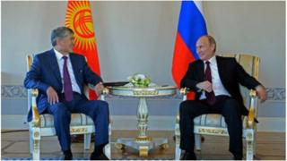 Россия Президенти Бишкекке расмий сапар менен Кыргызстан менен Россиянын дипломатиялык мамилелеринин 25 жылдыгын утурлап келатат.