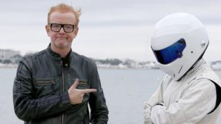 Chris Evans and The Stig in Cannes