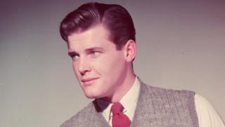 Sir Roger Moore in the 1950s