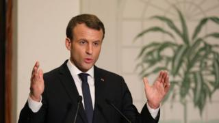 president Macron for 5th AU-EU summit