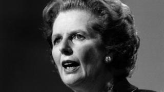 Margaret Thatcher in 1986 at Bournemouth
