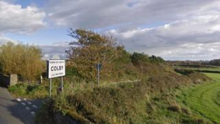 Road sign for Colby in the Parish of Arbory
