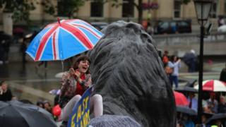 Anti-Brexit protester
