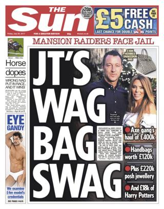 Sun front page - 28/07/17