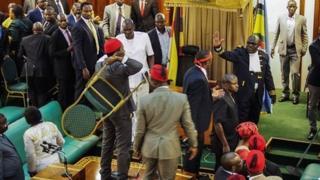 'Yan majalisar dokokin Uganda sun bawa hammata iska yayin wata mahawara, to amma ba a Uganda ne kadai yan majalisa ke kece raini ba. Lamarin na faruwa a kasashe da dama.
