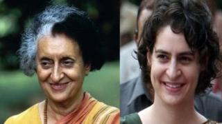 اندرا گاندھی اور پرینکا