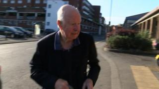 Mr Bennett arrives at court