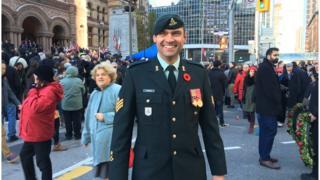 Sgt Bojan Joksimovic at Remembrance day ceremony in Toronto 11 Nov. 2016