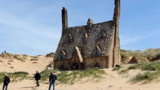Shell Cottage on Freshwater West beach. Photo: Pembrokeshire Coast National Park Authority