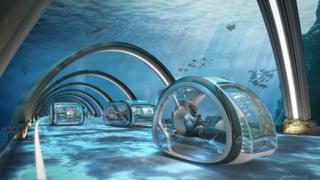 الطريق السريع تحت الماء