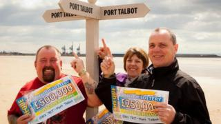 Peter Summers, Sarah Edwards and Jeff Davies won £1m with People's Postcode Lottery in 2013