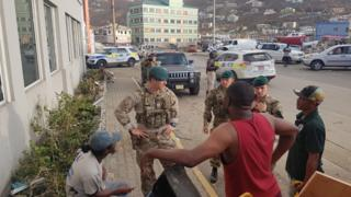 Commandos providing support in the British Virgin Islands