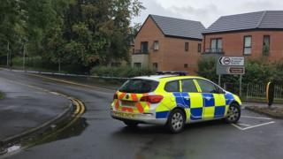Crash scene in Madeley