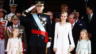 Король Фелипе и королева Летиция