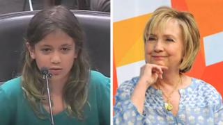 Hillary and the girl