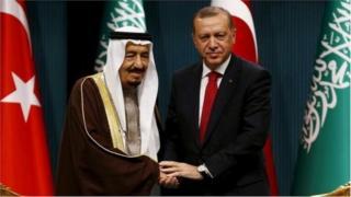 તુર્કી અને સાઉદીના પ્રમુખોની તસવીર