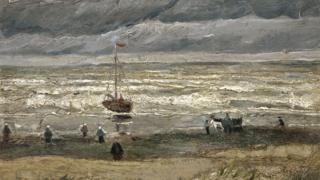 'The Beach At Scheveningen During A Storm' by Van Gogh