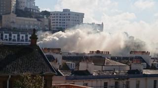 Smoke across Torquay Harbour