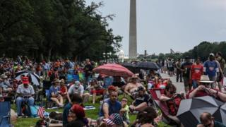 Crowds at the National Mall