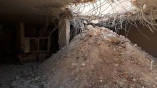 پنج موشک لایه های سنگ را شکافت و بیمارستان را تخریب کرد