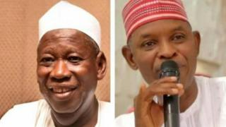 Govnor Ganduje of APC and Abba Kabir Yusuf of PDP