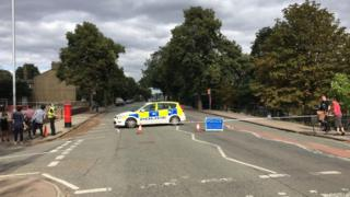 Police cordoned off the area