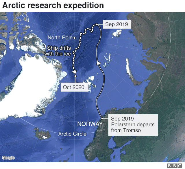 Climate change: Polarstern leaves for 'biggest ever' Arctic expedition