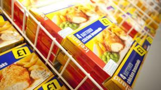 Iceland goods in freezer