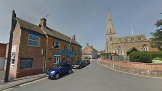 Oadby Royal British Legion club and St Peter's Church