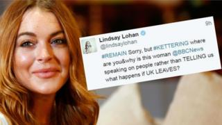 Lindsay Lohan and her tweet