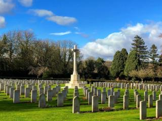 The Commonwealth War Graves cemetery in Botley