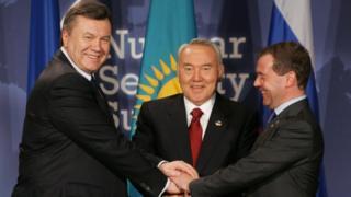 Янукович, Назарбаев, Медведев