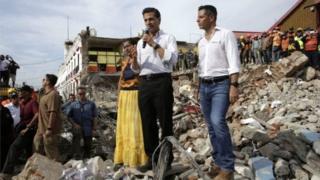 Perezida Nieto avugira mu mujyi wa Juchitana kuwa gatanu.