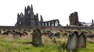 Whitby Abbey and St Mary's graveyard