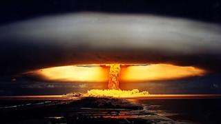 Un hongo en la atmósfera, resultado de una prueba nuclear