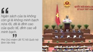 Phó Chủ nhiệm Ủy ban tài chính ngân sách của Quốc hội Việt Nam nói quy định pháp luật về ngân sách đã minh bạch ngang chuẩn quốc tế