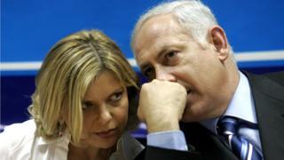 Netanyahu na nwunye ya.