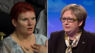 Nurse Claire Austin and Joanna Cherry