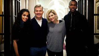 Doctor Who and her three companions