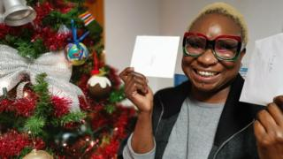 Mo Fayose with a Christmas tree