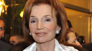 Lee Radziwill, Jacqueline Kennedy's sister, in Paris, 20 January 2004