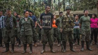 Farc rebels in Colombia (22 September 2016)