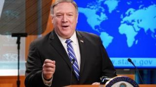 وزیر امور خارجه آمریکا می گوید به تمدید تحریم های تسلیحاتی ایران امیدوار است