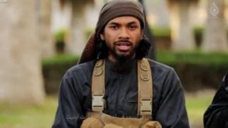 تصویر نیل پراکاش در یک فیلم تبلیغاتی داعش