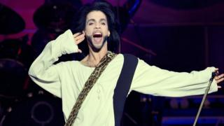 Prince on stage in 1988