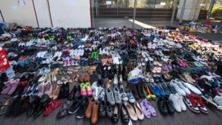 Hundreds of shoes donated to Grenfell Tower fire victims