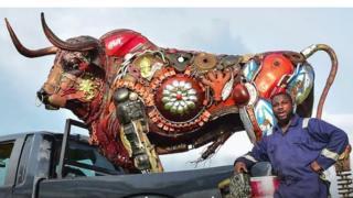 Dotun Popoola, hybrid-metal sculptor