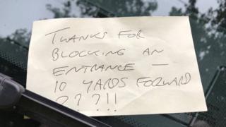 Note on ambulance windscreen