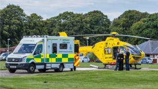 air ambulance at scene